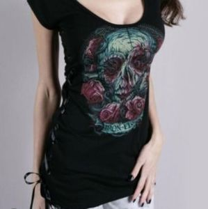 Iron Fist Santeria scoop nect long fitted t